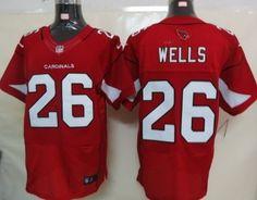 a59b8fa84 Nike Arizona Cardinals  26 Chris Wells Red Elite Jersey Cardinals Jersey