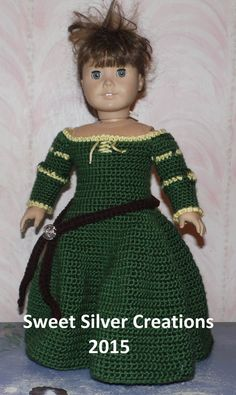 Hello and thank you for taking the time to view my latest creation. This listing is for the pattern to create this beautiful Merida inspired gown for your 18 inch doll. Pattern includes instructions for the dress and belt. This pattern was created with sport weight yarn and is