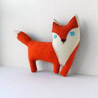the Fox -- plush wool pillow