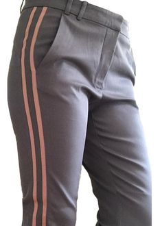 Gustav Bukser 24014 Galon Pants With Straight Legs - graphite