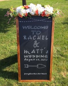 A personal favorite from my Etsy shop https://www.etsy.com/listing/249528222/custom-made-chalkboard-signs-for
