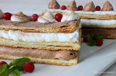 JULIA Y SUS RECETAS: Milhojas de mousse de chocolate y nata