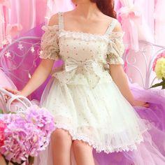 Japanese sweet floral condole belt bowknot princess dress