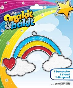 Colorbok TB-66597 Makit and Bakit Suncatcher Kit, Rainbow with Clouds ** Find out @