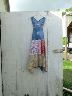 xsmall small / Upcycled clothing / Funky Overalls by CreoleSha
