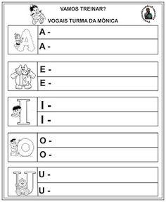 Pequenos Grandes Pensantes.: Atividades com Vogais - Turma da Mônica