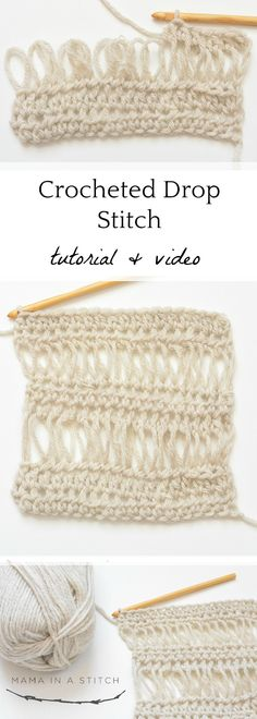 How To Crochet the Drop Stitch – Mama In A Stitch