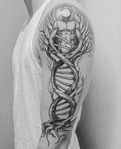 DNA tree designed by Lotta Randén at Bläckbyrån (Vårgårda, Sweden) : tattoos Dna Tattoo, Maori Tattoos, Irezumi Tattoos, Samoan Tattoo, Love Tattoos, Beautiful Tattoos, Black Tattoos, Tattoo Drawings, Body Art Tattoos