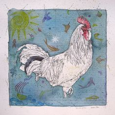 Chinese Zodiac Rooster, Chinese Zodiac Signs, Zodiac Signs Virgo, Zodiac Symbols, Sign Meaning, Oak Color, Roosters, Watercolor And Ink, Petra