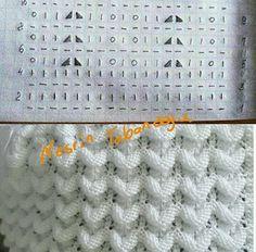Crochet knit look hat pattern Ideas Lace Knitting Patterns, Knitting Charts, Knitting Stitches, Knitting Designs, Baby Knitting, Stitch Patterns, Crochet Socks Tutorial, Crochet Baby Socks, Knitted Baby