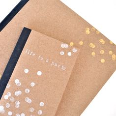 Transform and personalise plain notebooks with this simple stamping DIY | perfect gift idea