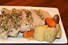 Slow Cooker Pork Tenderloin and Herb Roasted Vegetables