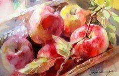 Ideas fruit sketch pencil still life Watercolor Fruit, Fruit Painting, Easy Watercolor, Watercolor Artists, Watercolor Landscape, Watercolor Flowers, Watercolor Paintings, Watercolors, Painting & Drawing