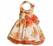 so cute dressy halter dress. Notice giant prints on little clothes