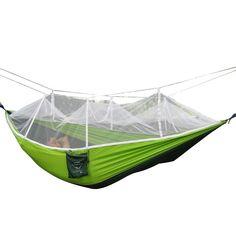 amazon    camping hammock rusee mosquito   outdoor hammock travel bed lightweight parachute 8  rusee camping hammock with mosquito     top 10 best hammocks      rh   pinterest