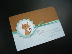 Cat Sympathy Card by apaperaffaire on Etsy, $2.75