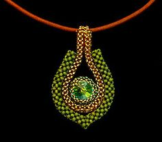 This is my first attempt using cubic right angle weave.This is my first attempt using cubic right angle weave. Seed Bead Necklace, Seed Bead Jewelry, Pendant Jewelry, Ideas Joyería, Right Angle Weave, Handmade Beaded Jewelry, Bead Crochet, Crochet Rope, Beads And Wire