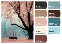 muted pinks, blues and burgundies #chipit Paint colors from Chip It! by @Sherwin-Williams