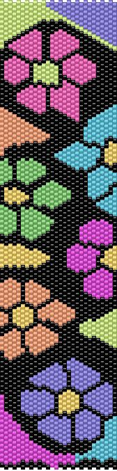 This is a Peyote Pattern Made with Myuki Delica Beads size 11/0. I made this pattern with BeadTool 4. Included is the Bead Legend, Bead Chart