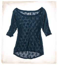 Lace tops. This would be PERFECT if it was matched with a bright pink cami.