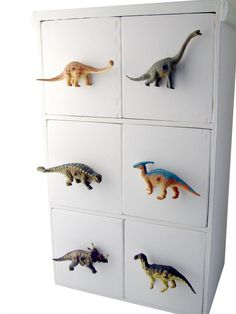 Dinosaur furniture knobs I am so going to do this for my Grandson Ransom....