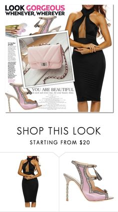 """Untitled #1951"" by aida-nurkovic ❤ liked on Polyvore featuring Marchesa"