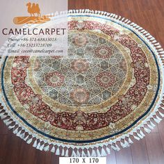 170x170cm silk round carpe whatsapp:008613213228709 coco@camelcarpet.com