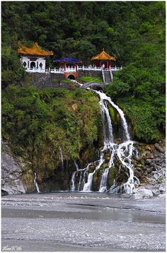 Changchun Temple,Taroko Gorge, Taiwan. My daughter was here least summer - and I am quite envious!