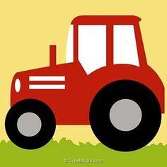 Kit canevas a broder pour enfants le tracteur rouge - Margot