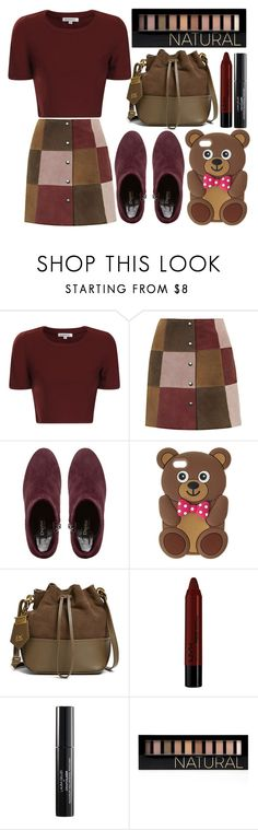 """""""street style"""" by sisaez ❤ liked on Polyvore featuring Glamorous, Topshop, Dune Black, ZAC Zac Posen, NYX, Laura Geller and Forever 21"""