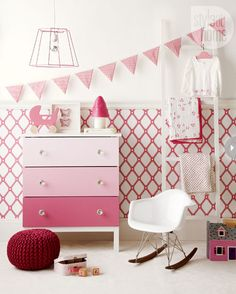 IKEA HACKS love that ombre dresser xD gorgeous! and that bunting *sigh* its all so beautiful <3