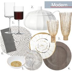 Modern Thanksgiving Place Setting, West Elm Holiday Dinner Plates, Lazy Susan Gold Hurricane, Chiliwich Placemats, Crate & Barrel Modern Pumpkin Server, Wooden Charger Plate, Modern Stemware