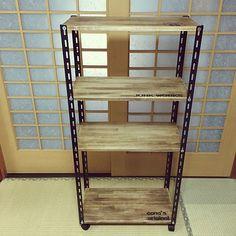 家族の、棚/カラーアングル/長男リクエスト/まねっこDIY/BRAIWAX/DIYについてのインテリア実例。 「長男リクエストのおも...」 (2016-08-22 16:00:21に共有されました) Furniture Projects, Wood Furniture, Wood Projects, Japanese Living Rooms, Cafe Concept, My Dream Home, Cleaning Hacks, Bookshelves, Cabinet