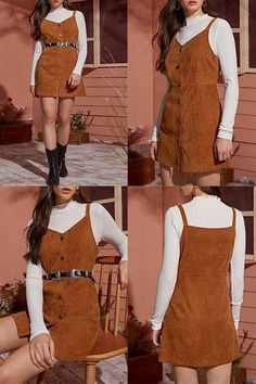 Simple Fall Outfits, Classy Winter Outfits, Summer Outfits For Teens, Winter Fashion Outfits, Autumn Fashion, Cute Outfits, Vintage Fashion 1950s, 60s And 70s Fashion, School Fashion