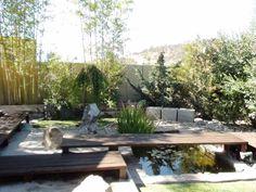jardines zen diseño con puentes
