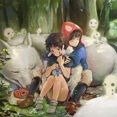#prinzessinmononoke#Wölfe#wald#Götter#waldgott#Anime#san#hayaomiyazaki#ashitaka#natur#Dämonen#Mononoke#maske#Menschen#waldgeister#wolfsmädchen# by vampir_lady_moon