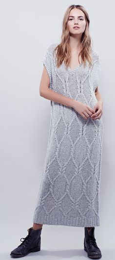 Free People - Cables For Days Knit Dress