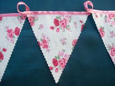 vintage style prettychic pink rose bunting 5 meters mothering sunday tea party