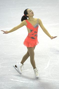 MAO ASADA - CORAL FIGURE SKATING DRESS