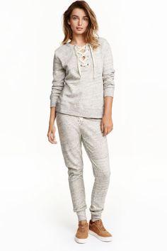 Свободен панталон с връзки | H&M
