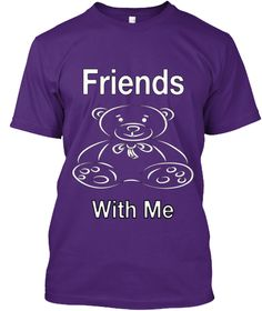 Friends With Me Purple T-Shirt Front