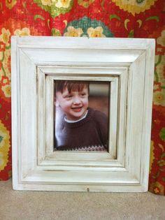 8x10 Ellen Frame - Distressed White by JoyfulExp on Etsy https://www.etsy.com/listing/97752992/8x10-ellen-frame-distressed-white