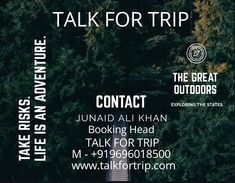 TALK FOR TRIP  Wander Around The World 🌐 With Us! Get Customised Tour 🛫Packages Totally In Budget 💸! TALK 📞 TO Us 📱 +91 9696018500 Visit 🖱️ www.talkfortrip.com ➡️Every Journey Is An Adventure⬅️ Competitor Analysis, Life Is An Adventure, The Great Outdoors, Awesome, Amazing, Wander, Budgeting, Around The Worlds, Journey