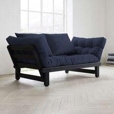 Fresh Futon Beat Black Convertible Futon Sofa - BEATBL001