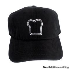 adc6b6c2b4342 Toast Outline Embroidered Black Dad Hat