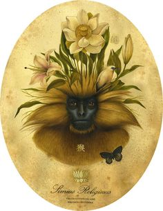 Lindsey Carr does a great job of mixing flora and fauna in her paintings. Art And Illustration, Illustrations, Botanical Illustration, Alex Pardee, Fabian Perez, Gil Elvgren, Henri Matisse, Hieronymus Bosch, Claude Monet
