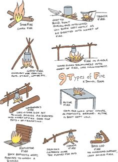 9 Types of  Campfires