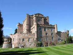 Dalhousie Castle near Edinburgh, Scotland. We stayed here on our honeymoon. :)