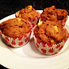 Best Healthy Pumpkin- Apple Muffins EVER
