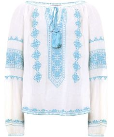 Star Mela  Lana Embroidered Top